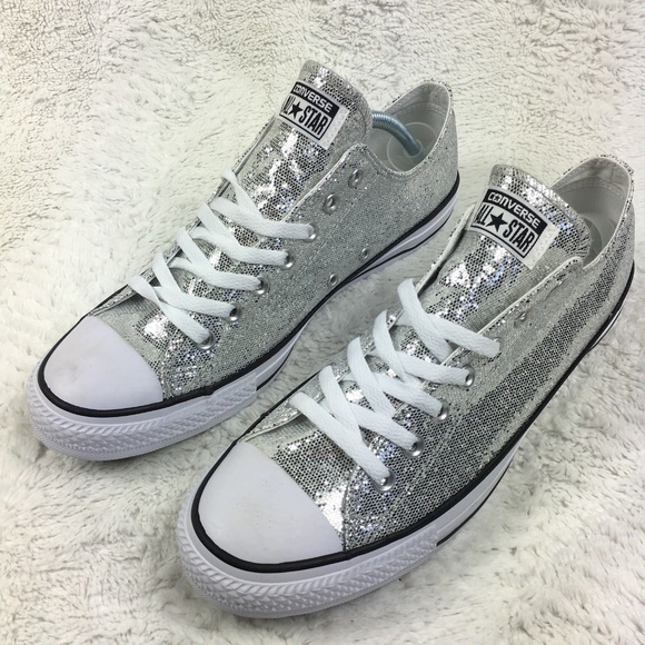 d98f7b79b01 CONVERSE All-Star Ox Lo Top Sneakers CTAS Silver